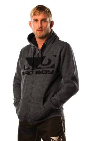 Bad Boy 'Fleece' felpa grigia