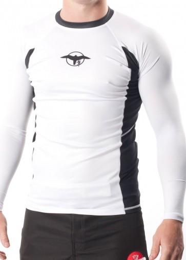 Hayabusa 'Haburi' rashguard bianca maniche lunghe