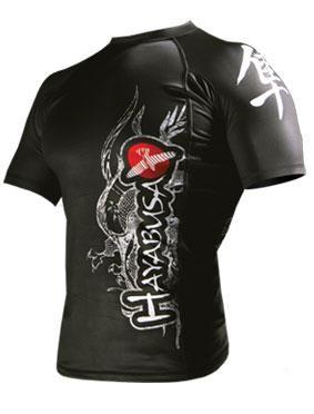 Hayabusa 'Mizuchi' rashguard nera maniche corte