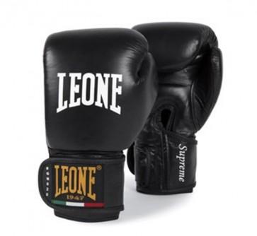 Leone 'Supreme' guantoni 10oz neri