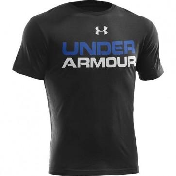 Under Armour 'Wordmark' maglia nera