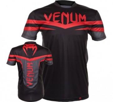 Venum 'Sharp' maglia nera e rossa (Dry Tech)