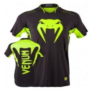 Venum 'Hurricane' maglia nera e verde (Dry Tech)
