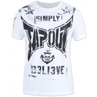 Tapout 'Combat Stencil' maglia bianca