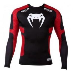 Venum 'Absolute' rashguard nera e rossa maniche lunghe