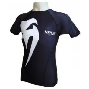 Venum 'Giant' rashguard nera maniche corte