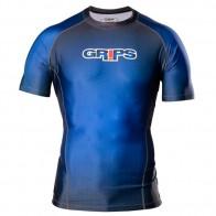 Grips 'Wasp' rashguard short sleeves blue