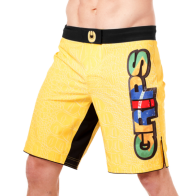 Grips 'Yellow Croco' fight shorts