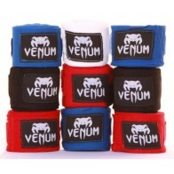 Venum hand wraps 4m black