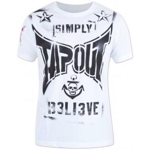 Tapout 'Combat Stencil' shirt white