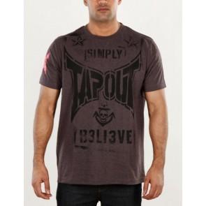 Tapout 'Combat Stencil' shirt charcoal