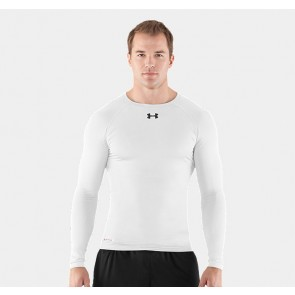 Under Armour 'HeatGear' rashguard long sleeves white