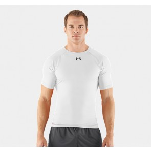 Under Armour 'HeatGear' rashguard short sleeves white