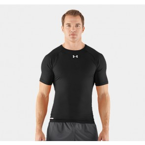 Under Armour 'HeatGear' rashguard short sleeves black