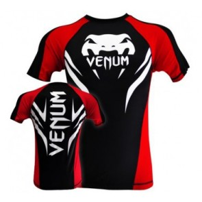 Venum 'Electron 2.0' rashguard short sleeves black