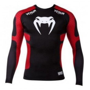 Venum 'Absolute' rashguard long sleeves black and red