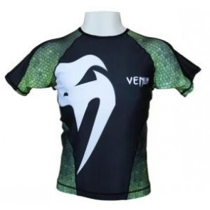 Venum 'Giant - Amazonia Green' rashguard short sleeves