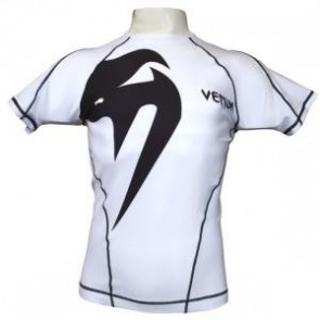 Venum 'Giant' rashguard short sleeves white