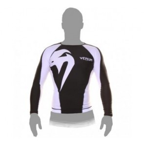 Venum 'Giant' rashguard long sleeves black and white