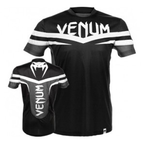 Venum 'Sharp' shirt black and white (Dry Tech)
